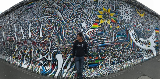 Me Against the Berlin Wall